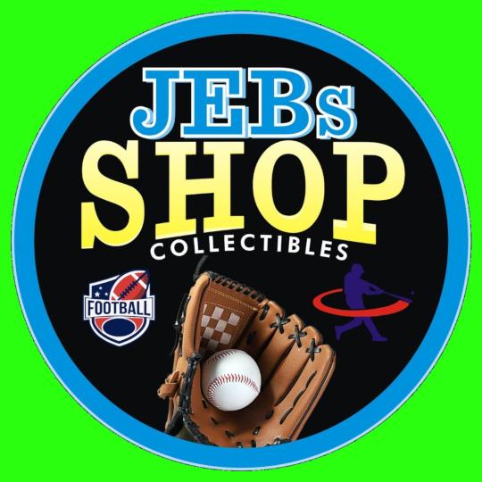 JEBs Shop Collectibles logo. Football, Baseball, Basketball, Hockey sports trading cards and boxes.